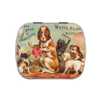Dogs Sewing Candy Tin