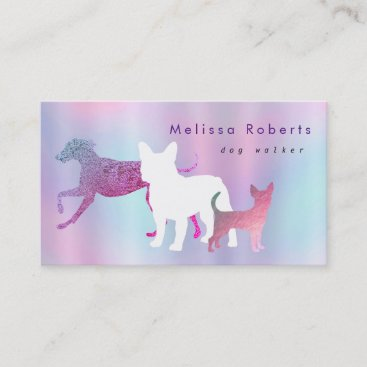 dogs silhouettes business card
