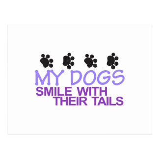 Dogs Smile Postcard