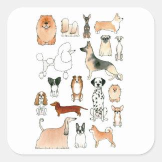 Dogs Square Sticker