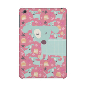 Dogs, Stars, and Flowers iPad Mini Cases