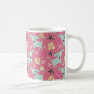 Dogs, Stars, and Flowers Classic White Coffee Mug