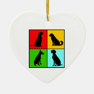 Dogs styles ceramic ornament