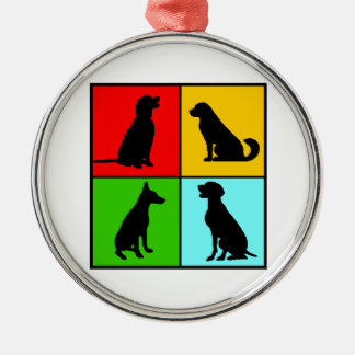 Dogs styles metal ornament