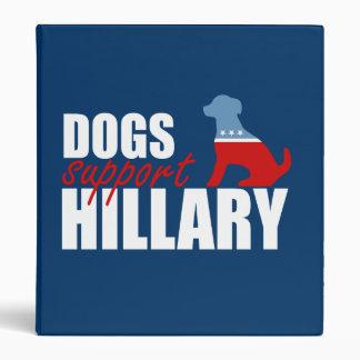 DOGS SUPPORT HILLARY 2016 VINYL BINDER