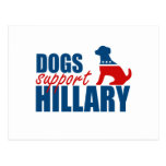 DOGS SUPPORT HILLARY.png Postcard