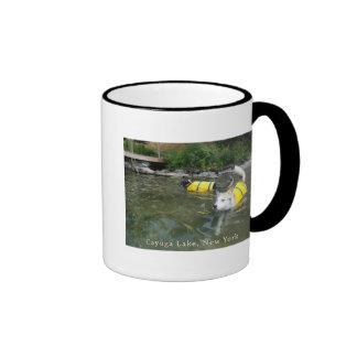 Dogs Swimming Life Jackets Mugs