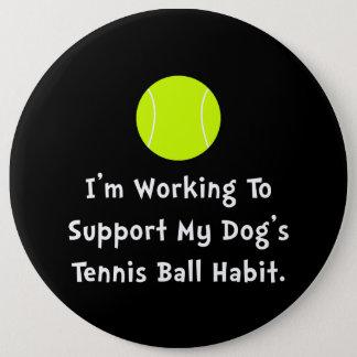 Dogs Tennis Ball Button