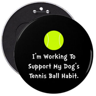 Dogs Tennis Ball Button