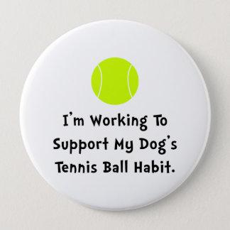 Dogs Tennis Ball Pinback Button