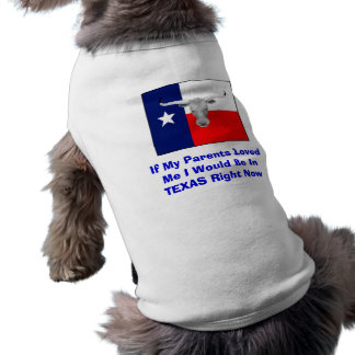 Dog's Texas Shirt Pet Shirt
