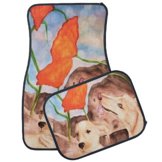 Dogs - To live in the here and now Car Mats Set Car Mat