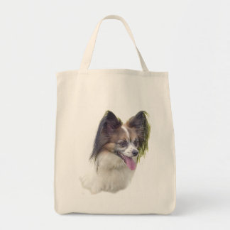 Dogs - Toy Breeds - Papillion Grocery Tote Bag