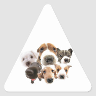 Dogs Triangle Sticker
