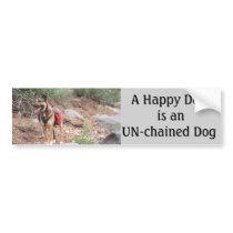Dogs Un-chained Bumper Sticker