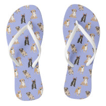 Dogs Vector Seamless Pattern Flip Flops