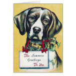 Dog's Vintage Holiday Greeting Card
