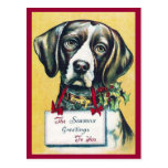 Dog's Vintage Holiday Postcard