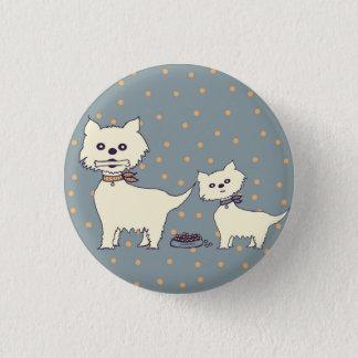 dogs vintage pinback button