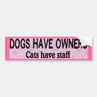 Dogs vs. Cats Bumper Stickers