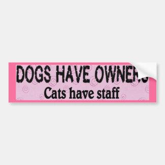 Dogs vs. Cats Car Bumper Sticker