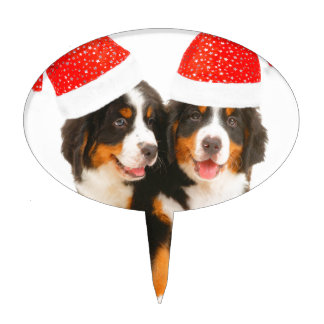 Dogs Wish A Merry Crhistmas Cake Topper