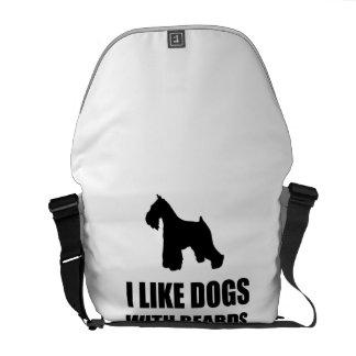 Dogs With Beards Schnauzer Messenger Bag