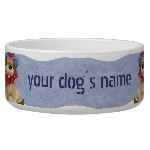 Dogs with Hats Dog Water Bowl