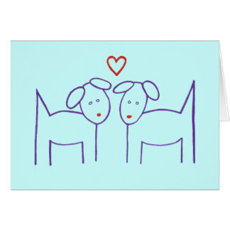 Dogs with Heart - Happy Anniversary Card