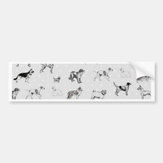 Dogs With Polka Dots Bumper Sticker