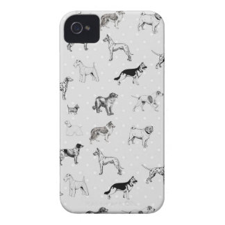 Dogs With Polka Dots iPhone 4 Case-Mate Case