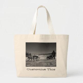 Dogsled Fun; Customizable Jumbo Tote Bag