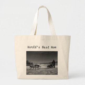 Dogsled Fun; Happy Mother's Day Jumbo Tote Bag