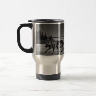 Dogsled Fun 15 Oz Stainless Steel Travel Mug