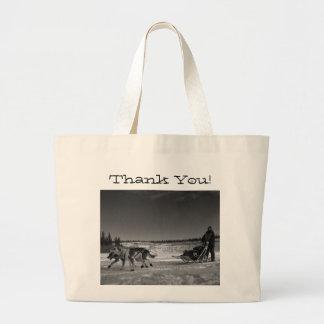 Dogsled Fun; Thank You Jumbo Tote Bag