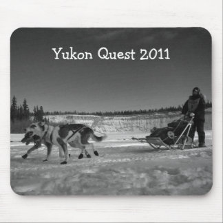 Dogsled Fun; Yukon Quest 2011 Mouse Pad