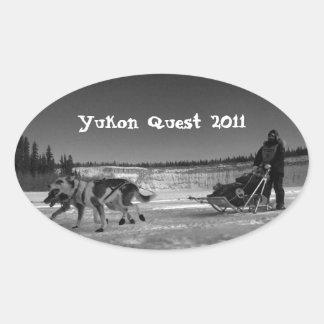 Dogsled Fun; Yukon Quest 2011 Oval Sticker