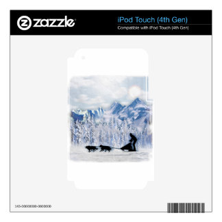 Dogsledding Decal For iPod Touch 4G