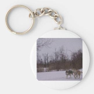 Dogsledding fun keychains