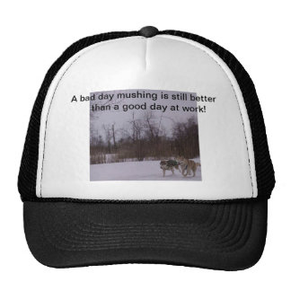 Dogsledding fun trucker hat