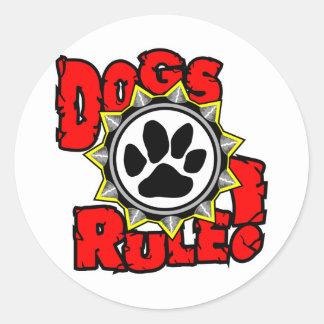 DogsRule_Logo_Color Pegatina Redonda