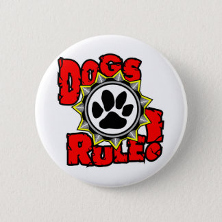 DogsRule_Logo_Color Pinback Button