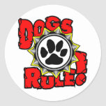 DogsRule_Logo_Color Sticker