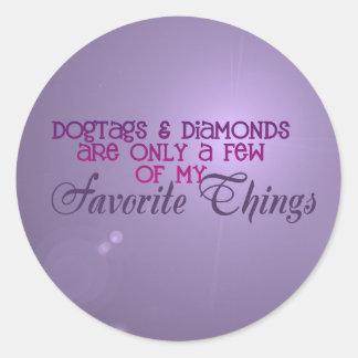 Dogtags y pegatinas de los diamantes