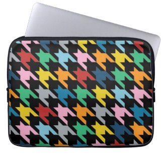 Dogtooth Black Laptop Computer Sleeves