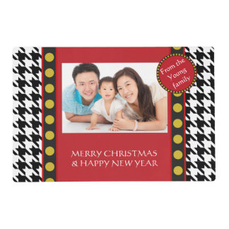 Dogtooth, Houndstooth Christmas range Placemat