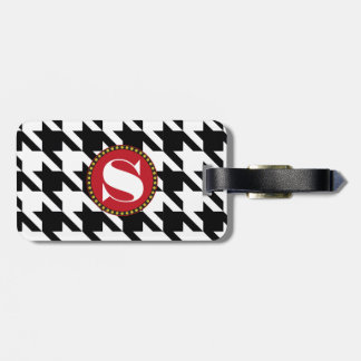 Dogtooth, Houndstooth or pied-de-poule pattern Luggage Tag