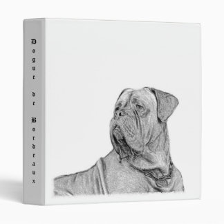 Dogue de Bordeaux Binder Carpeta 1""