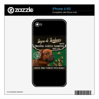 Dogue de Bordeaux Brand – Organic Coffee Company iPhone 4 Decal