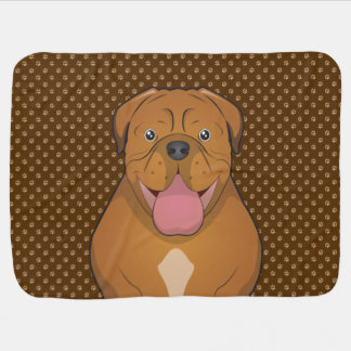 Dogue de Bordeaux Cartoon Paws Swaddle Blanket